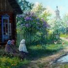 Идиллия деревенской жизни на картинах современного русского художника