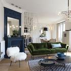 Парижская квартира с синим камином