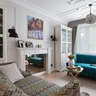 Квартира с ярко-синим потолком в Москве
