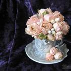 Букет из роз в кофейной чашке, или как сделать милый сувенир