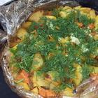 Вкуснейшая ленивая картошка в рукаве. Вкусный обед или Постное блюдо