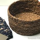 Плетеная корзинка из бумажных салфеток