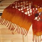 Создаем осенний шарфик-паутинку-сетку «Листопад»