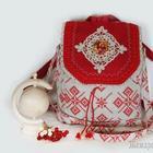 Шьем льняную сумку-рюкзак в русском стиле
