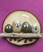 Рисование на камнях или роспись садовых камней