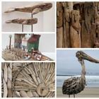 Искусство из деревяшек, выброшенных морем