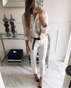 Как носить круто брюки с рубашкой