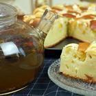 Пирог Шарлотка творожная с яблоками