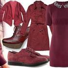 Бордовый цвет в одежде: кому носить и как сочетать
