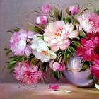 Яркие и солнечные цветочные натюрморты художницы Надежды Левицкой