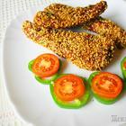 Куриное филе в кунжутной панировке