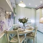 Романтичная кухня 9 кв.м. в типовом панельном доме - реализованный проект