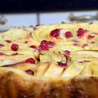 Пирог Сочный с  яблочной начинкой  и сметанным кремом
