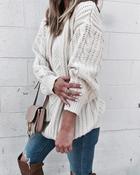 Свитер крупной вязки: 25 стильных вариантов