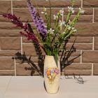 Декорируем стеклянную вазу