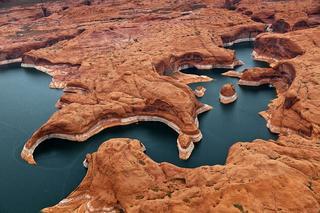 Искусственное озеро Пауэлл на реке Колорадо