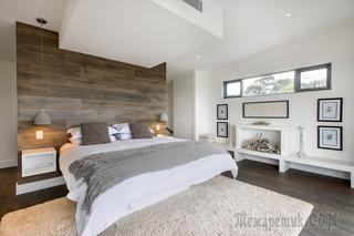 Акцентная стена в спальне - 30 идей