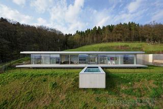 Слившаяся с природой вилла в Германии