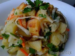 Салат с печеной картошкой