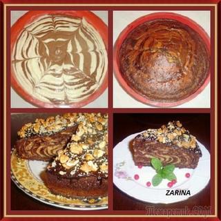 Очень простой и вкусный кекс «ЗЕБРА» - на скорую руку!