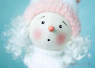 Мастер-класс: снеговичок Снежок своими руками