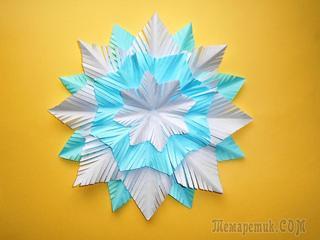 Снежинка из бумаги на новый год. Новогодние поделки для детей