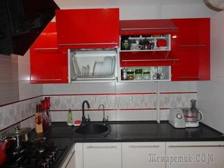 Кухня: красный цвет для поднятия аппетита и настроения