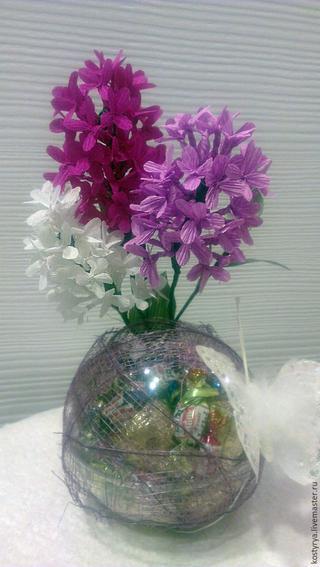 Делаем цветы сирени