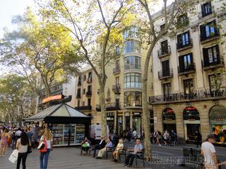От Болгарии до Португалии. Барселона. Бульвар Ла Рамбла.