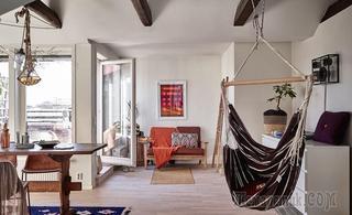 Квартира с солнечной террасой и гамаками в центре Стокгольма, 68 м²