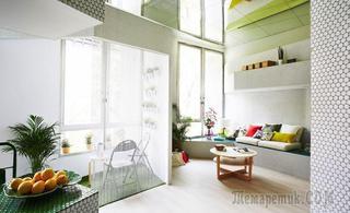 Студия в 36 м², полностью отделанная мозаикой