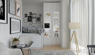 Маленькая квартира в скандинавском стиле 35 м²