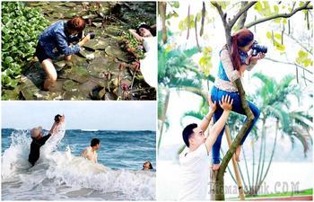 Фотографии о прелестях и трудностях работы свадебных фотографов