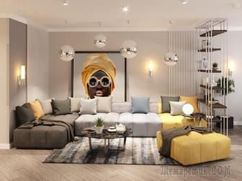 Минские дизайнеры показали квартиру для молодой семьи в элитном D3