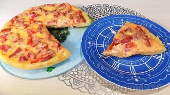 Пицца приготовленная на сковороде (2 пиццы)