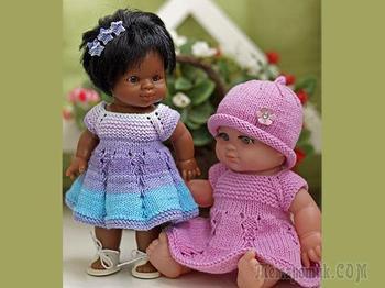 Вяжем платье «Первоцветик» для пупсов — одеваем всех от мала до велика