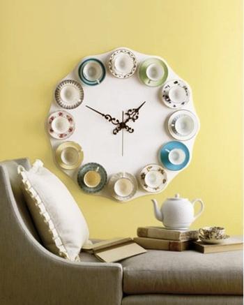 Время для чаепития: часы из чашек своими руками