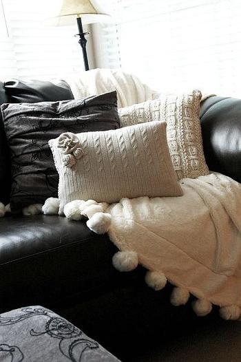 Мастер-класс: подушки из старых свитеров