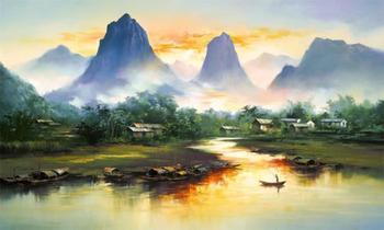 Радужные пейзажи китайского художника-самоучки, которого назвали лучшим неоимпрессионистом конца XX века