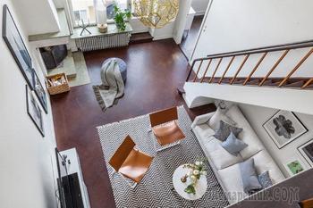 Двухуровневая квартира в спальном районе Стокгольма (92 кв. м)