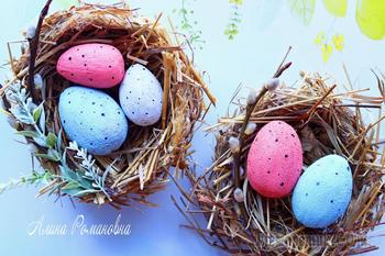 Создаем пасхальное гнездо и яйца своими руками!