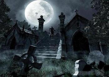 На кладбище старом...