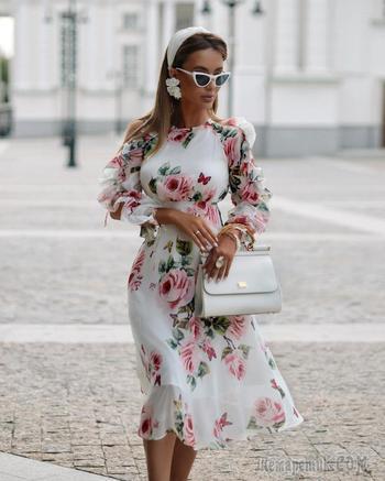 С чем носить платье с цветами: 30 модных идей, которые помогут почувствовать себя принцессой