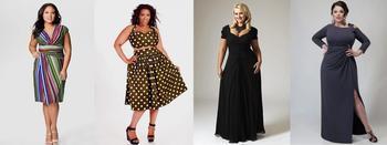 Модные платья для полных девушек в 2018 году