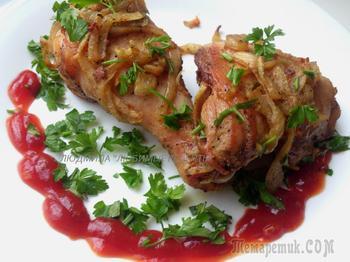 Запеченный шашлык из курицы в духовке