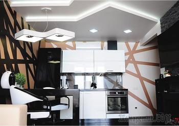 Перепланированная «двушка» с номинальной кухней и кальянной лоджией