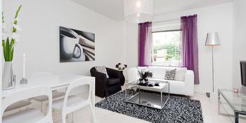 Светлый и романтичный дизайн квартиры 44 кв. м. в Швеции