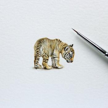 Крошечные рисунки от художницы Julia Las