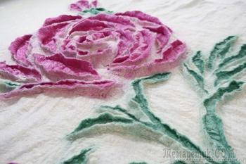 Валяем снежную розу