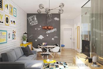 Функциональная квартира-студия для молодой семьи в Москве